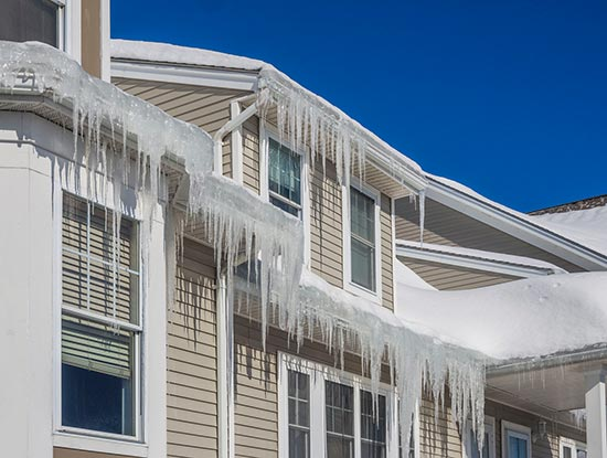 ice damage gutter