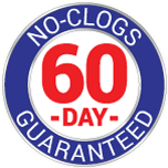 60 day no clog guarantee
