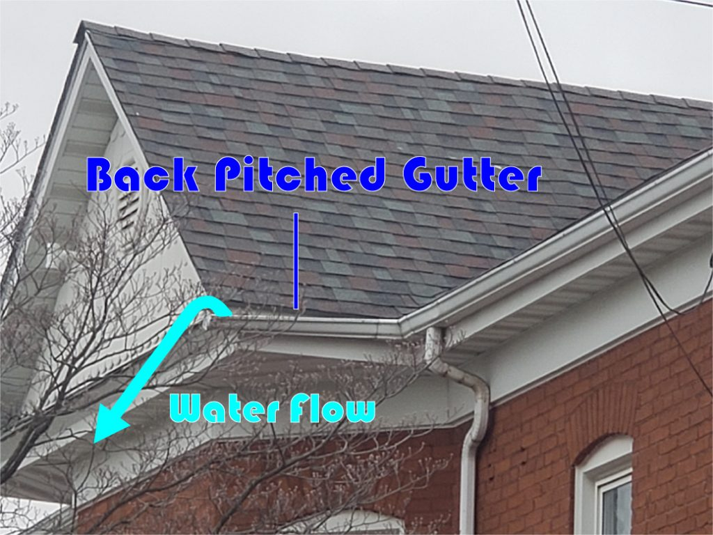 back pitched gutter