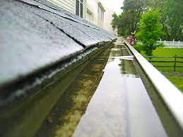 standing water in gutter