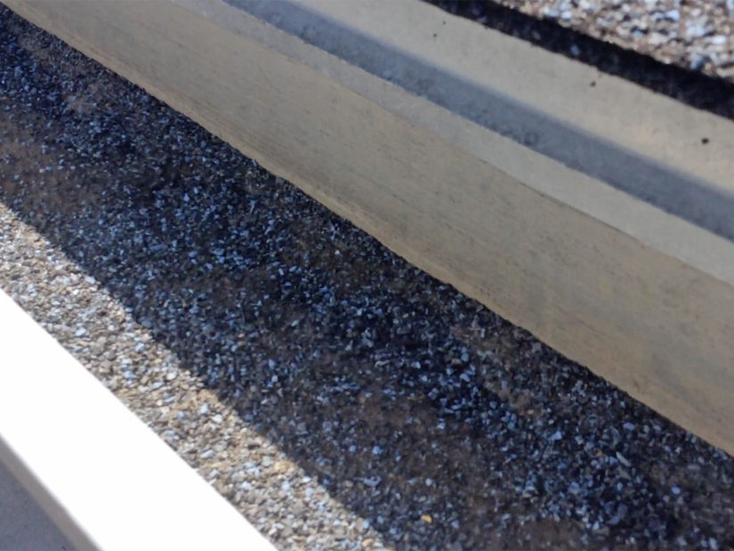 shingle grit in gutters